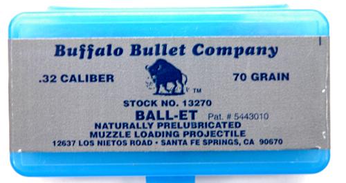 BT0200 Buffalo Bullets Ball-Et  32 cal
