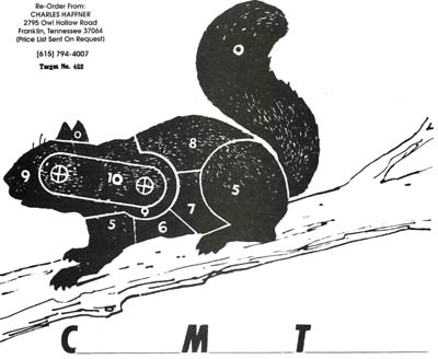 image about Printable Squirrel Target identified as EA9035 Varmint Focus - Squirrel