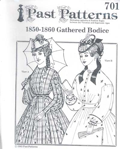 MC4401 Past Patterns - 1860s Gathered Bodice