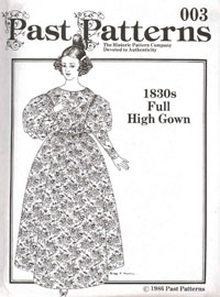 MG2602 Past Patterns - 1830's Full High Gown