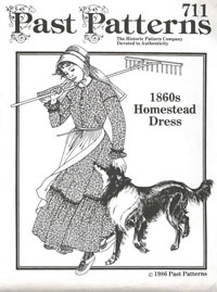 MG2603 Past Patterns - 1860's Homestead Dress