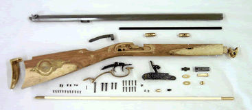 PK0516 DIXIE HAWKEN RIFLE KIT,  50 CALIBER PERCUSSION BY INVESTARMS